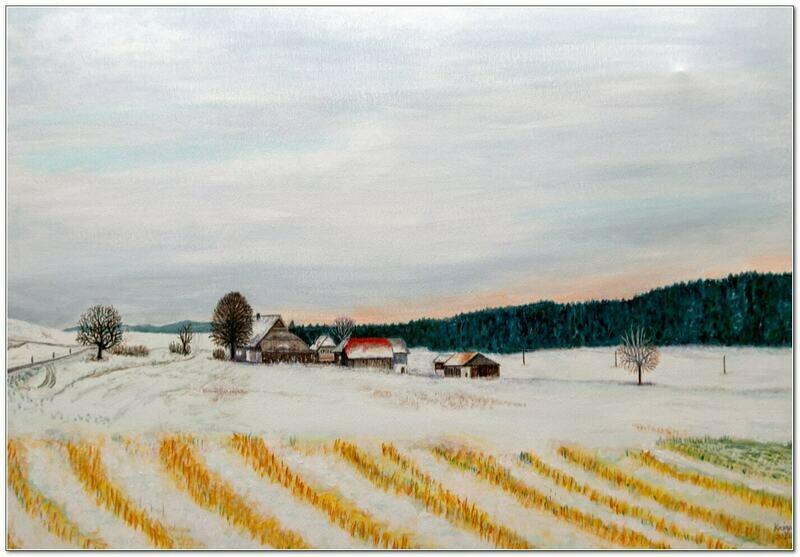 Paysage du Seeland en hiver