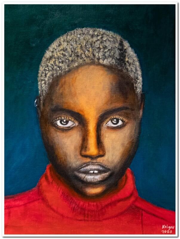 Femme black androgyne