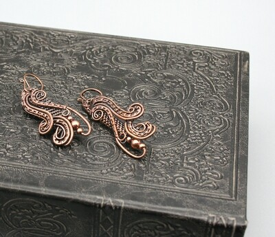 Dragonfly Wing Earrings I