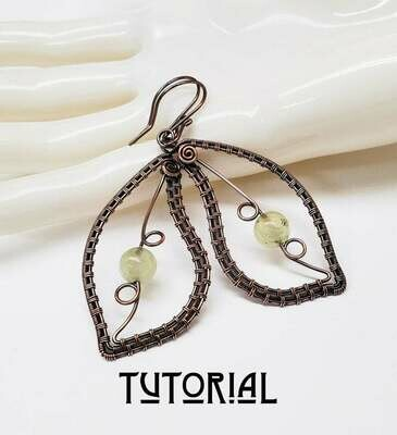 Delicate Leaves Earring Tutorial