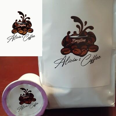 Brazillian Blend- Keurig Cups-Caffeinated- 12 pack