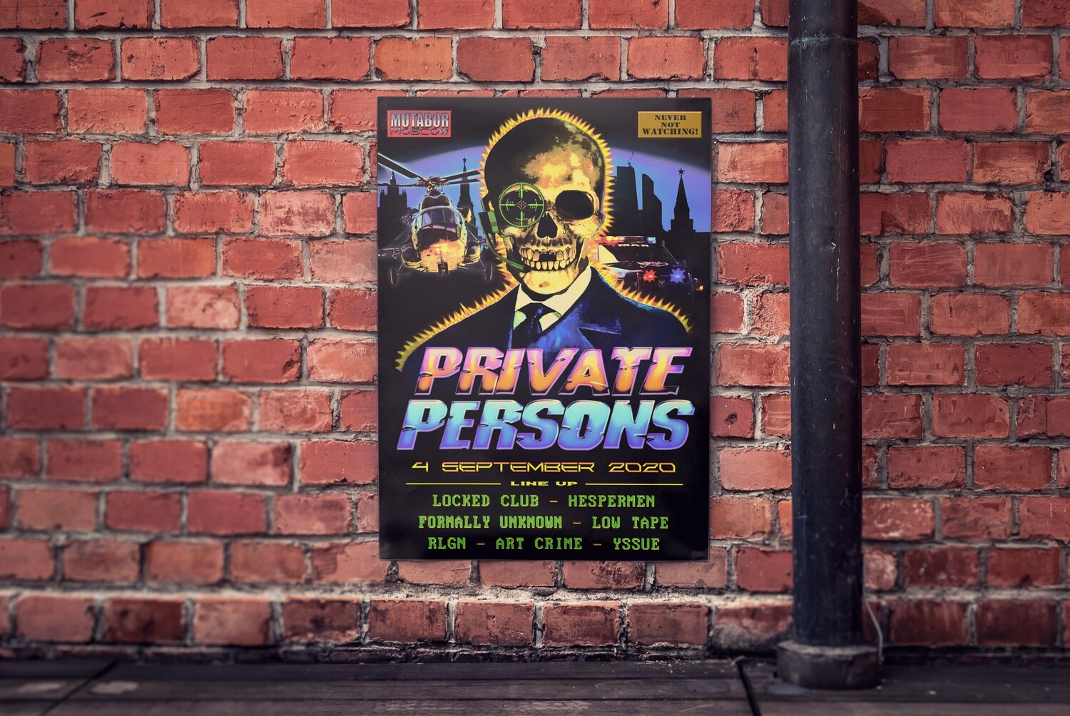 """""""PRIVATE PERSONS x MUTABOR"""" 04.09.2020 (A1 POSTER)"""