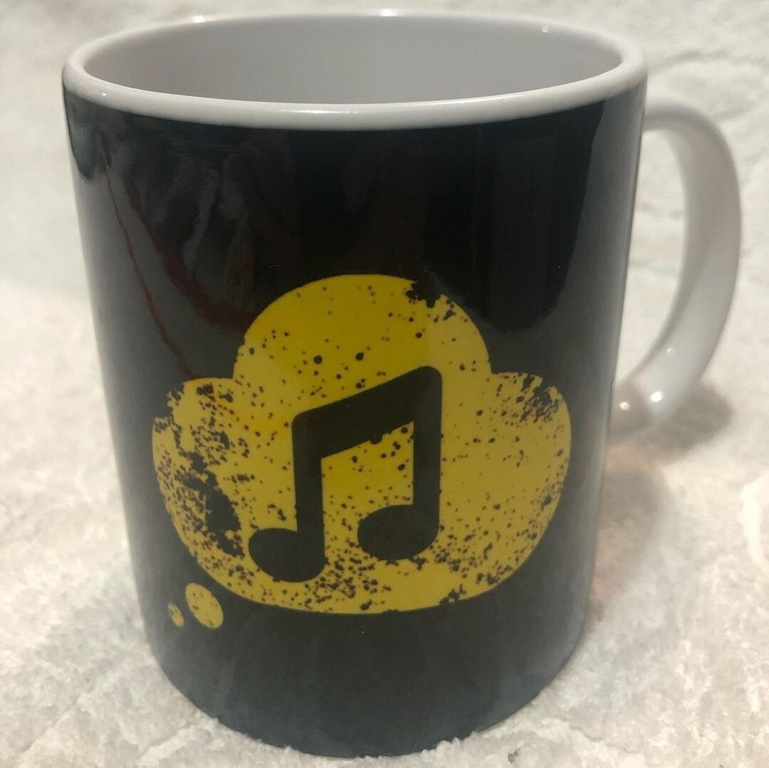 CANECA IMDS - Detalhe de Música amarelo