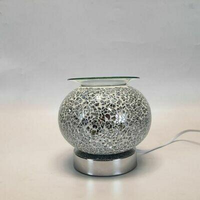 Silver Mosaic Touch Light Wax Burner