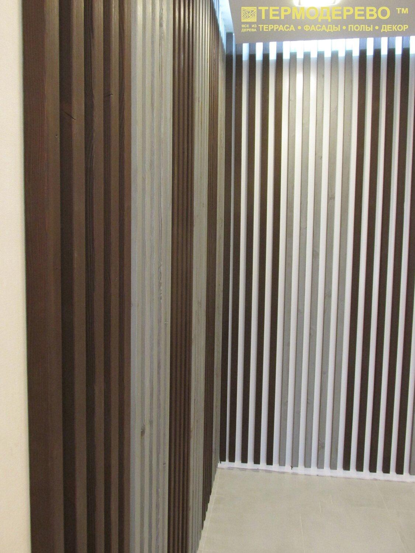 Стеновая рейка термоясень