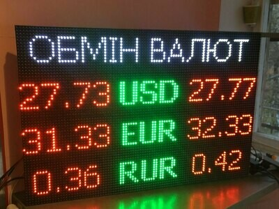 Обмен валют 960х640 мм