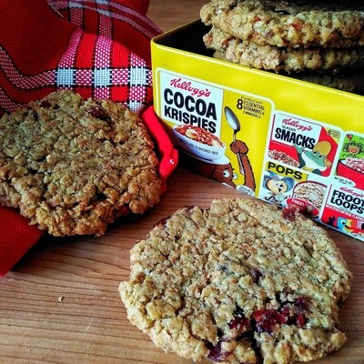 Cookies Avoine - Raisins, Pommes, Cranberries
