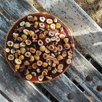 Flan Chocolat 70% - Noisettes  6 personnes