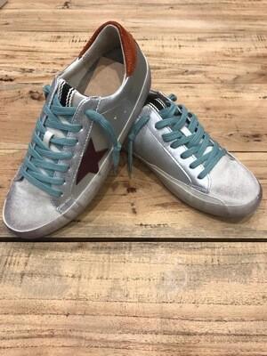 Sneaker estrella plata