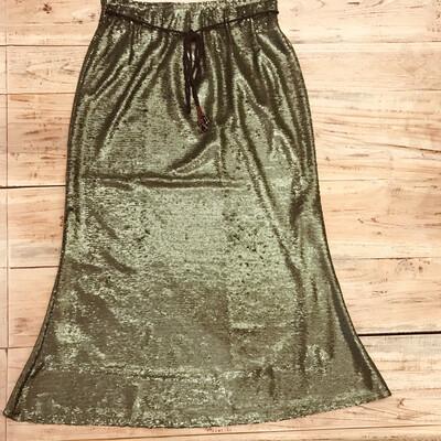 Falda verde lentejuelas