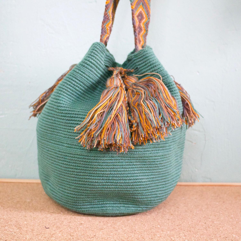 Bolso verde wayuu