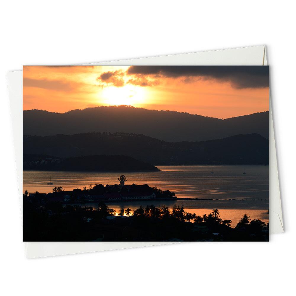 Sun setting on Koh Samui