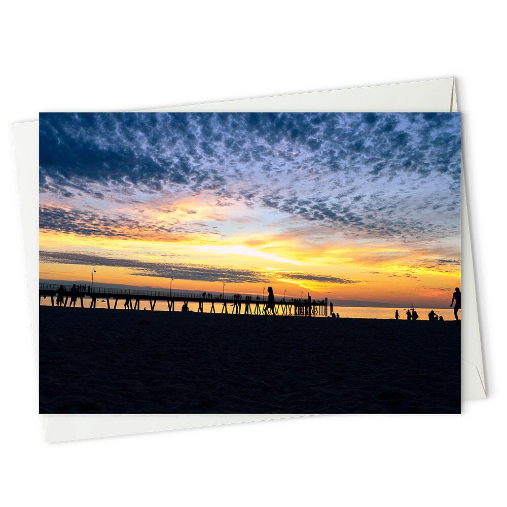 Golden sunset silhouettes