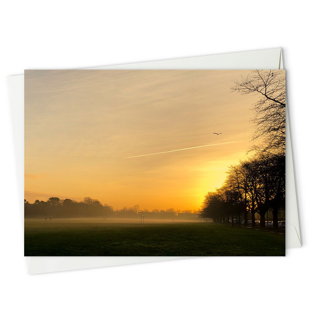 Sunrise on Roath Rec