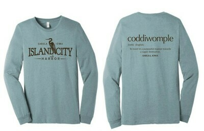 Heather Teal Long Sleeve Shirt with Logo
