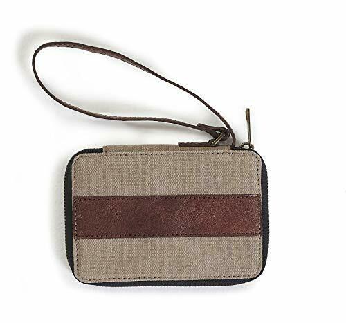 Mona B Ryker wristlet wallet Oak