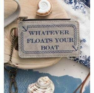 Whatever Floats Your Boat Keychain ID Money Pouch
