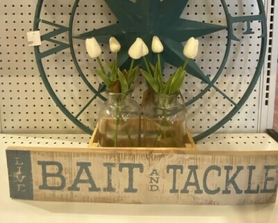 Wood Bait and Tackle Sign