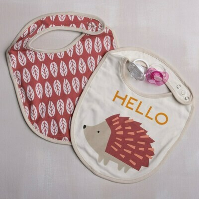 Hedgehog Bib Set of 2