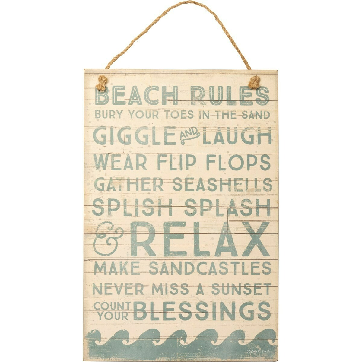 Beach Rules Wall Hanging