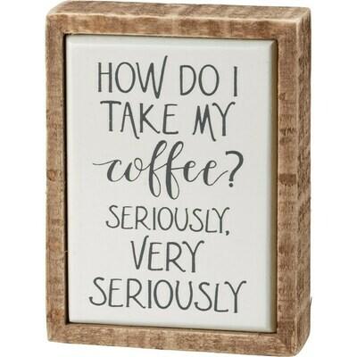 How Do I Take My Coffee Mini