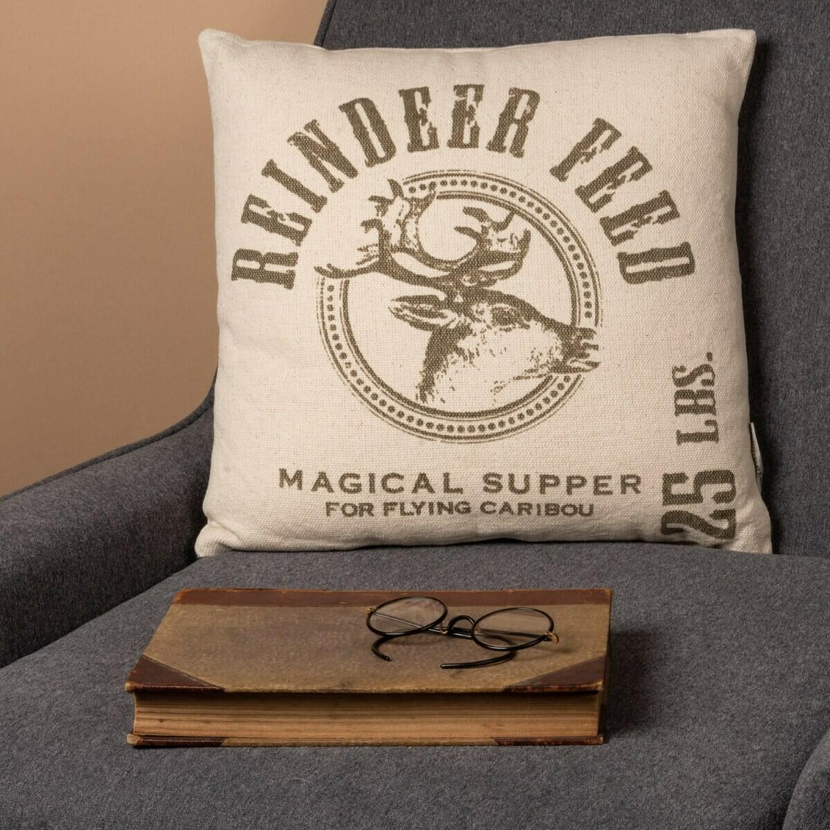 Reindeer Feed Pillow