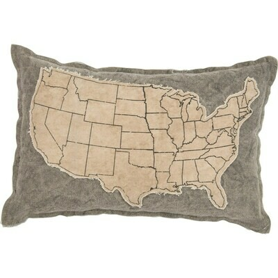 Distressed United States Pillow