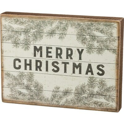 Merry Christmas Distressed Sign