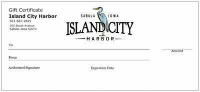 Island City Harbor Gift Certificate
