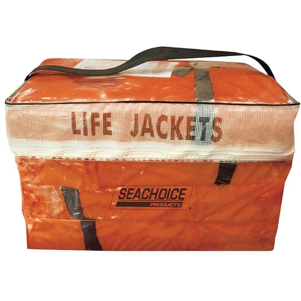 Seachoice Adult Universal Type II USCGA Life Vest Pack, Orange, 4-Pack