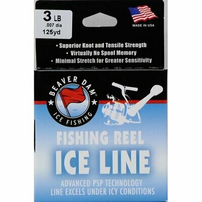 Beaver Dam Fishing Reel Ice Line, 125 yds. 3LB