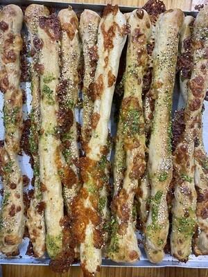 Cheddar and Pesto sticks