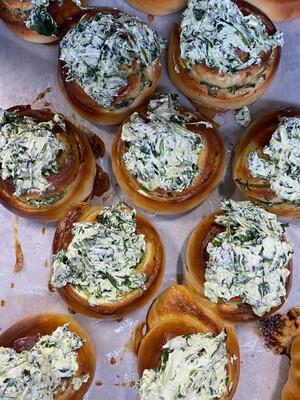 Danish Feta & Spinach Brioche Buns