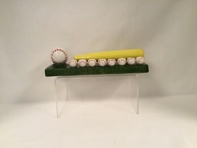 Baseball Menorah