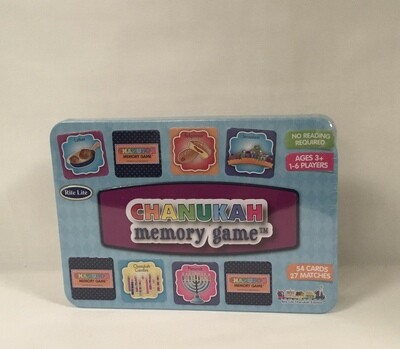Chanukah Memory Game in a Collectable  Tin