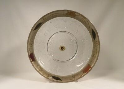 Glass Shallow Pomegranate Fruit Bowl