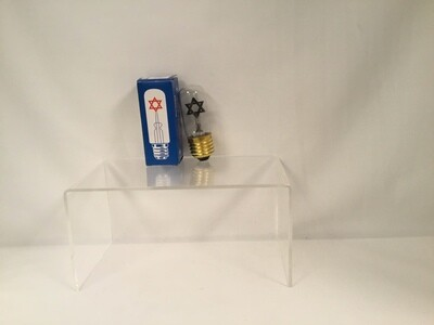 Clear Flame Electric Memorial Bulb
