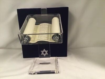 Acrylic Torah Stand with Star