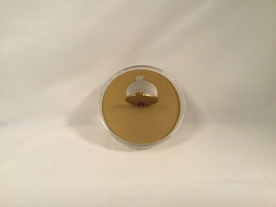 Honey Dish with Gold Pomegrante  Lid