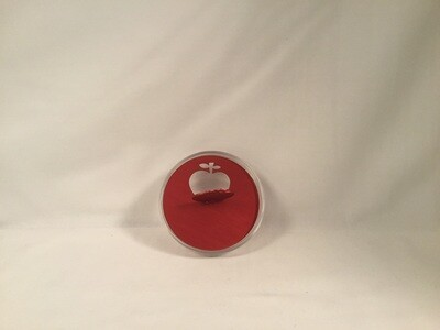 Honey Dish with Red Apple Lid