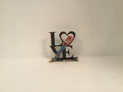 Laser Cut Love Sculpture for Wedding Shards