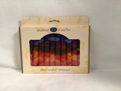 Safed Harmony Blue Shabbat Candles - 12