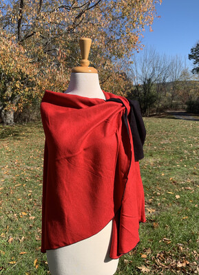 Cashmere Shawl With Shoulder Loop