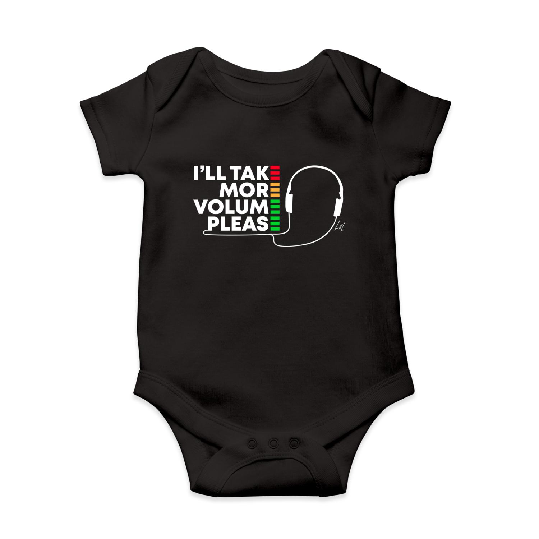 I'll Take More Volume Please Infant Short-Sleeve Baby Bodysuit