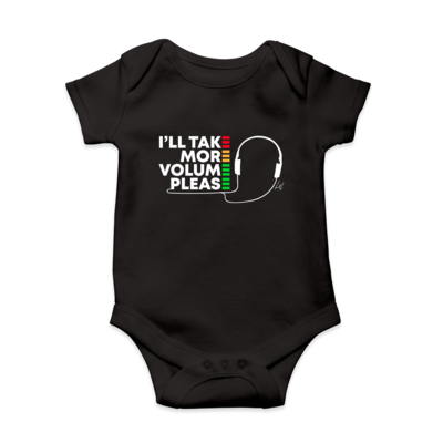 I'll Take More Volume Please Infant Short-Sleeve Baby Bodysuit
