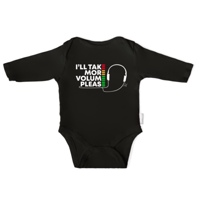 I'll Take More Volume Please Infant Long-Sleeve Baby Bodysuit