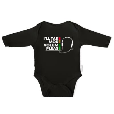 I'll Take More Volume Please Infant Long-Sleeve Baby Bodysuit