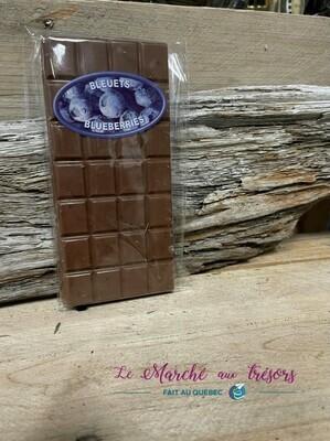 Barre de chocolat au lait et aux bleuets