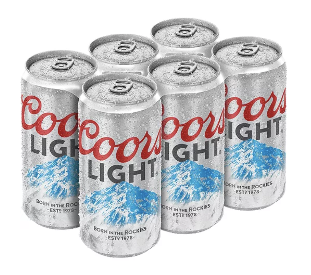 6 PACK COORS LIGHT
