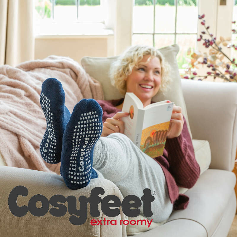 Cosyfeet Gripper Socks Navy